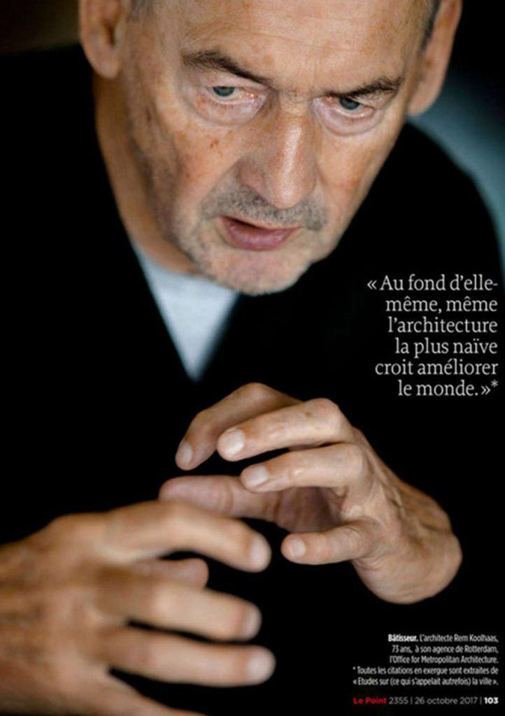 Rick Nederstigt Fotograaf foto portret Rem Koolhaas